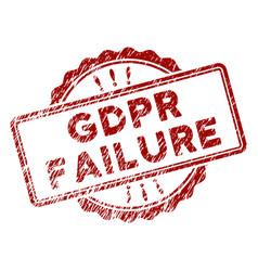 Distress textured gdpr failure stamp seal vector