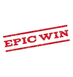 Epic Win Watermark Stamp vector image