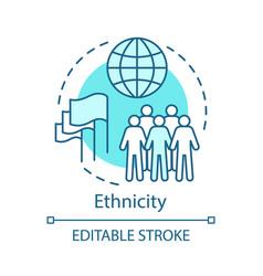 Ethnicity turquoise concept icon society vector