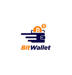 fast and secure bit coin wallet vector image