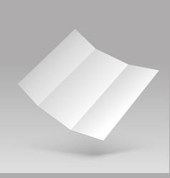flyer mockup blank white folded paper letterhead vector image