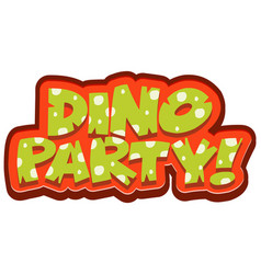 Font design for word dino party on white vector