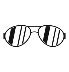 Glasses icon simple style vector
