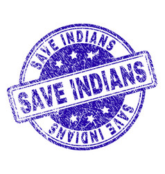 grunge textured save indians stamp seal vector image