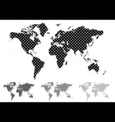 halftone world map vector image