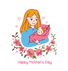 Happy friendship day mother and daughter or son vector