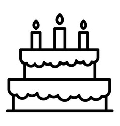 holiday cake icon outline style vector image