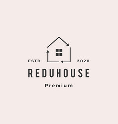 house home recycle logo retro hipster vintage icon vector image