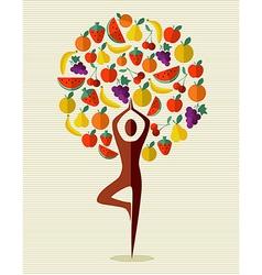India yoga fruit tree vector