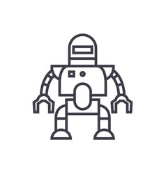industrial robot line icon sign vector image