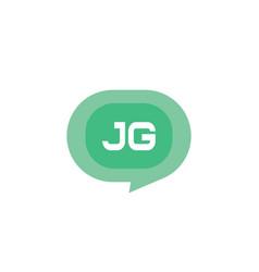 initial letter logo jg template design vector image
