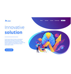 Innovative solution concept landing page vector