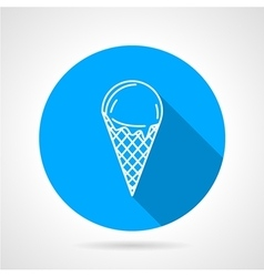 Line icon for ice cream vector image