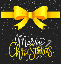 merry christmas greeting card xmas congratulation vector image