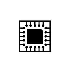 microchip circuit board cpu flat icon vector image