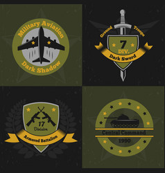 military ensign design concept vector image