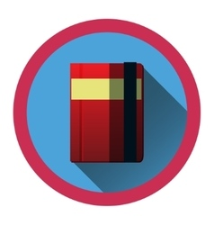 Modern flat icon with diary and bookmark and vector