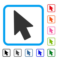 mouse pointer framed icon vector image