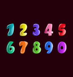 numbers2 vector image