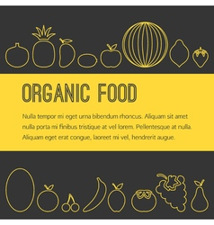 Organic fruit brochure vector