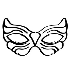 outline of a mardi gras mask vector image