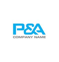 pa letter logo design template vector image