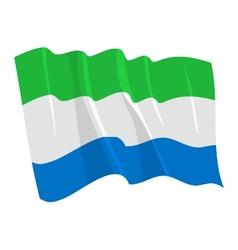 Political waving flag sierra leone vector