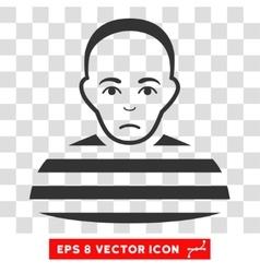 Prisoner EPS Icon vector