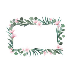 realistic flower frame vector image