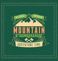 Retro Vintage Summer Camping Badge Mountine vector