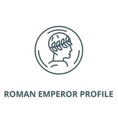 Roman emperor profile line icon linear vector