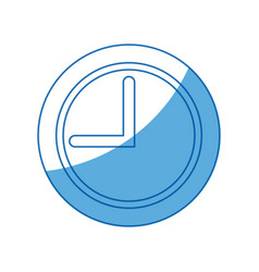 School clock time hour analog icon vector