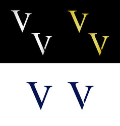 Simple capital letter V vector image