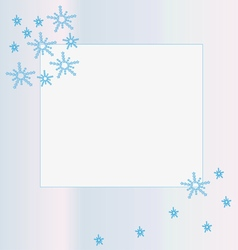 Snowflake frame vector