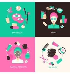 Spa icons concept vector