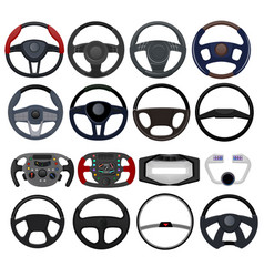 steering wheel car vehicle driving control vector image