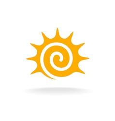 Sun spiral logo vector
