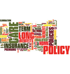 The ins and outs of long term care insurance text vector
