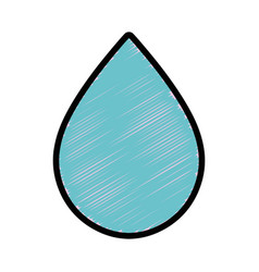 Water drop to conservation and care environment vector