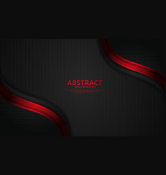 Wave abstract overlap layer on red stripes vector