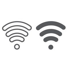 wi-fi line and glyph icon wireless and vector image