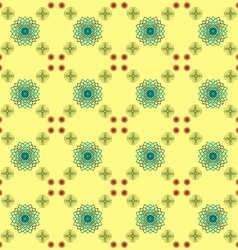 Yellow lace vector image