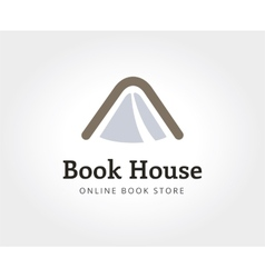 Abstract book house logo template for branding and vector image