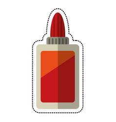 cartoon bottle glue school vector image