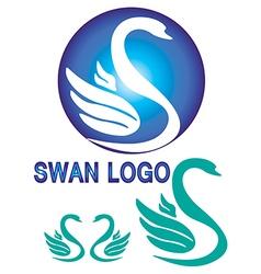 Colorful swan logo vector