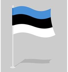 Estonia flag Official national symbol of Estonian vector image vector image