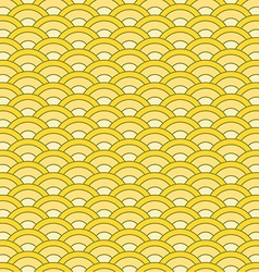 Japanese waves seamless pattern vector image