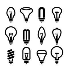 Light bulbs Bulb icon set 2 vector image