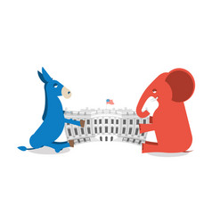 republicans and democrats share authority vector image vector image