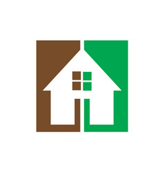 square home business logo vector image